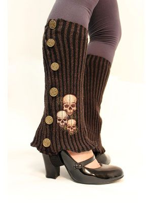 Tutorial for Victorian Steampunk Spats. Buttons are for decoration only.