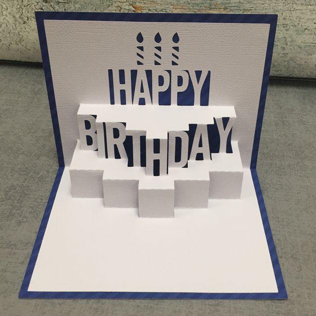 Pop Up Birthday Cake Card Tutorial With Kathy Diy Pop Up Cards Birthday Birthday Card Pop Up Birthday Card Design