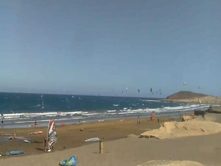 El Medano, Tenerife surf and kitesurf beach webcam