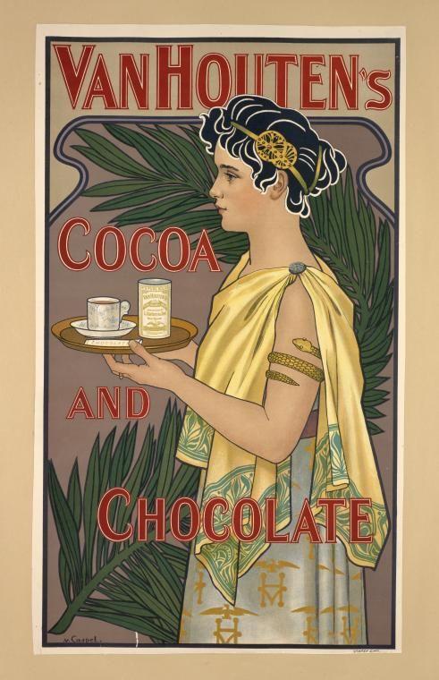 Poster by Johann Georg van Caspel (1870-1928) for Van Houten's Cocoa. NYPL Digital Gallery
