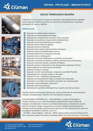 Solutii tehnologice Belzona. BELZONA ROMANIA