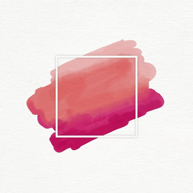 Download Geometric Frame With Watercolor Stain For Free In 2020