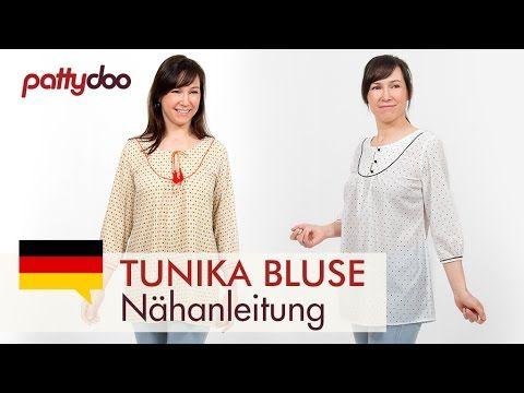 Eine Tunika/ Bluse nähen lernen - mit Abnäher, Raffung und Paspelband