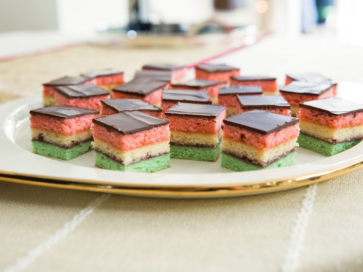 Neapolitan Holiday Cookies recipe from Valerie Bertinelli via Food Network