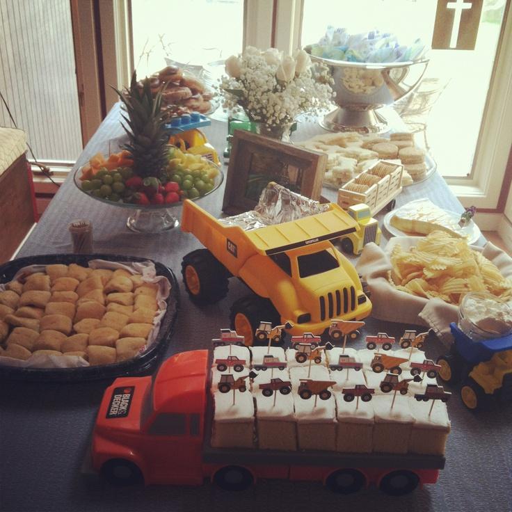 Truck themed baby shower