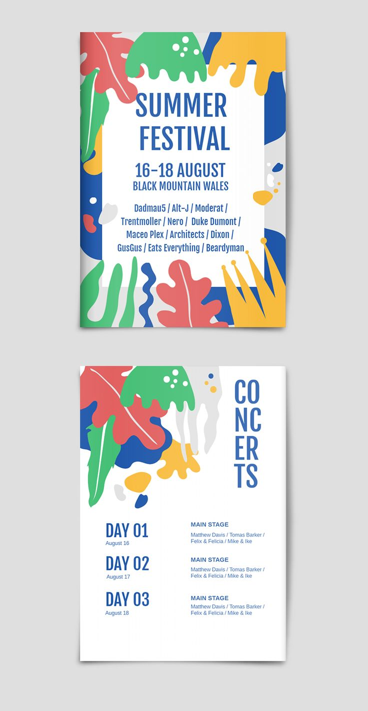 summer festival flyer  u0026 poster