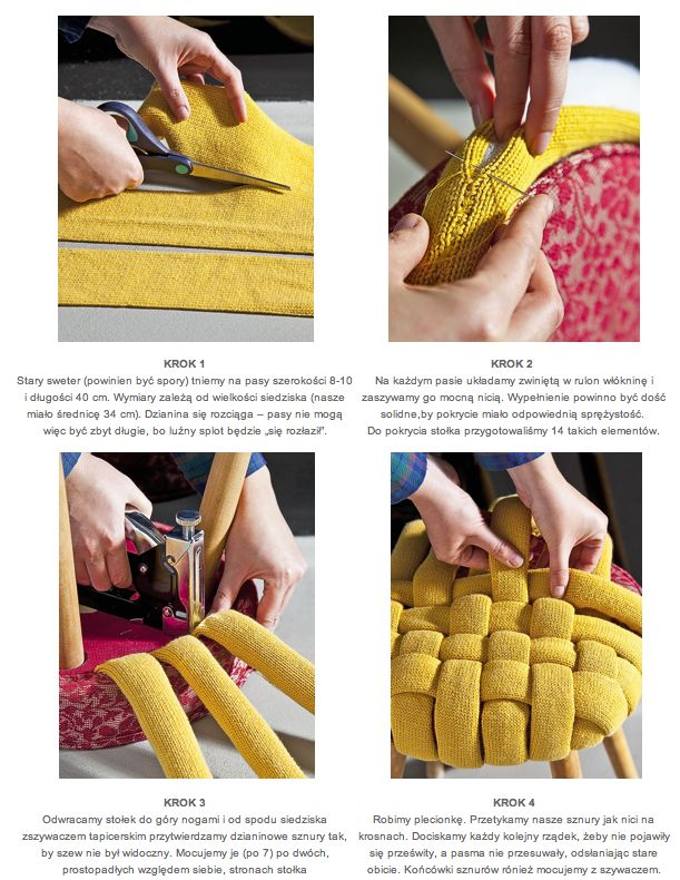 Woven cushioned stool