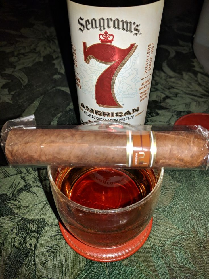 Enjoying a cool night in the desert. Having a Nub Habano and a Seagram's 7.