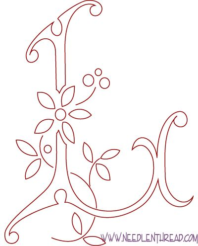 Monogram for Hand Embroidery: Letter L – Needle'nThread.com