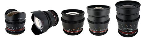 Rokinon Cine Lenses for Sony E Mount Cameras