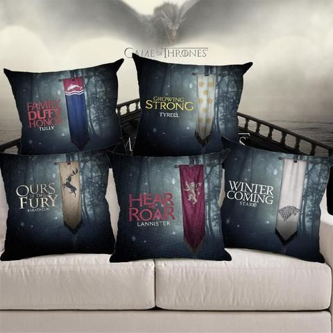 Game Of Thrones ''Nine Families'' Pillow