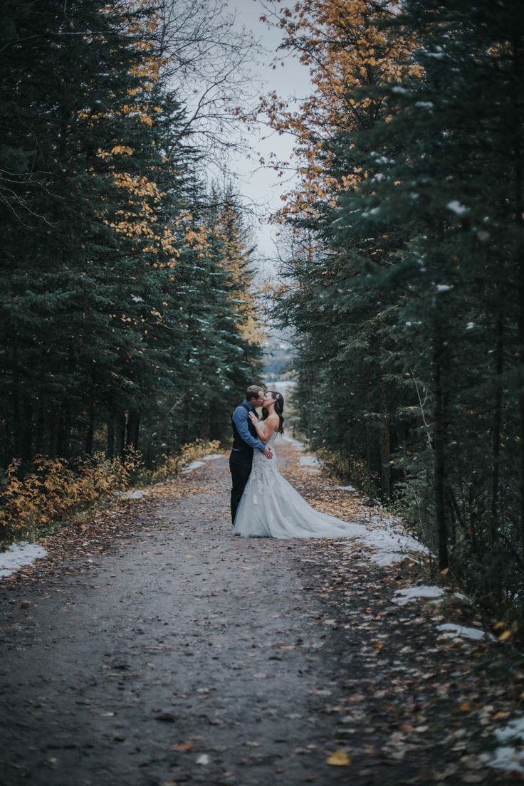 Canmore is perfect for outdoor wedding and engagement venues Canmore Engine Bridge wedding