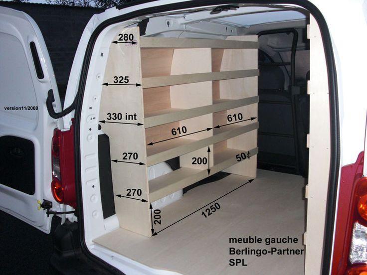 """Peugeot """"Partner"""" (meubles bois) : Kit meubles bois PEUGEOT PARTNER L1 sans porte latérale en ..."""