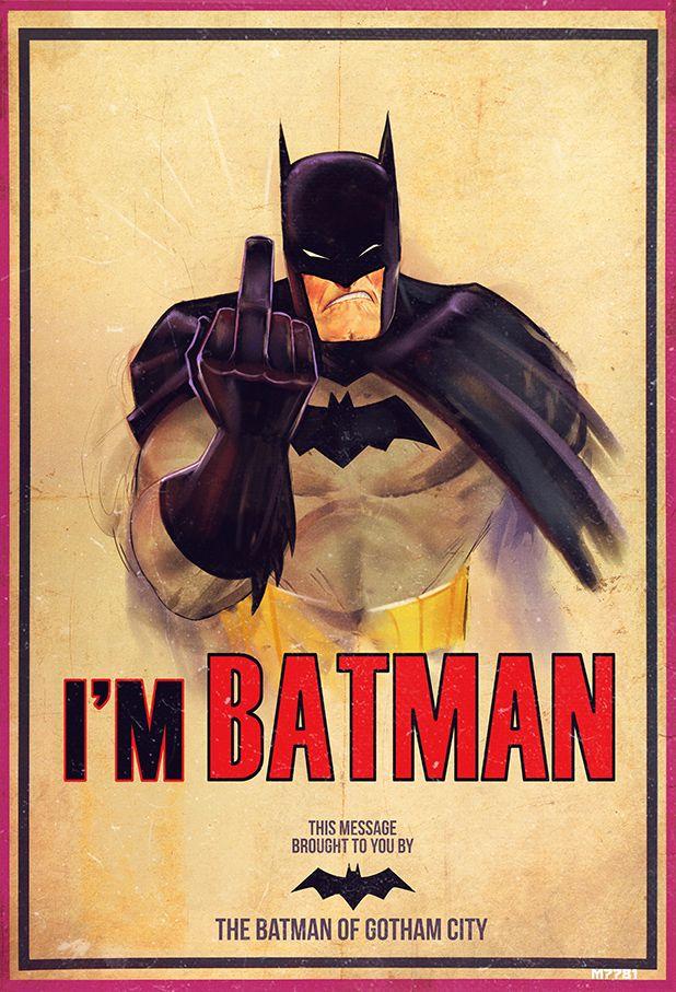 Just A Ole Hippie — demonsee: f u i'm batman by m7781