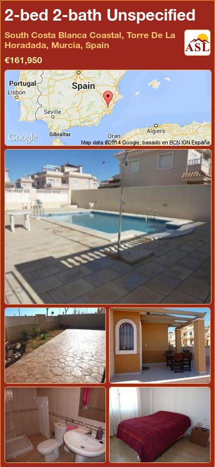 2-bed 2-bath Unspecified in South Costa Blanca   Coastal, Torre De La Horadada, Murcia, Spain ►€161,950 #PropertyForSaleInSpain