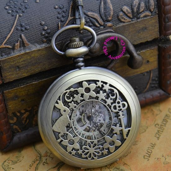 12.29$  Watch here - http://alix31.shopchina.info/go.php?t=729007116 - for wholesale price good quality antique classical rabbit and key flower man's mechanical pocket watch necklace hour  #magazineonline