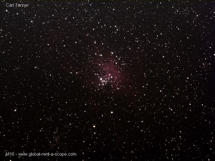 Similar specs as per last photo, except this time of M16, the Eagle Nebula.