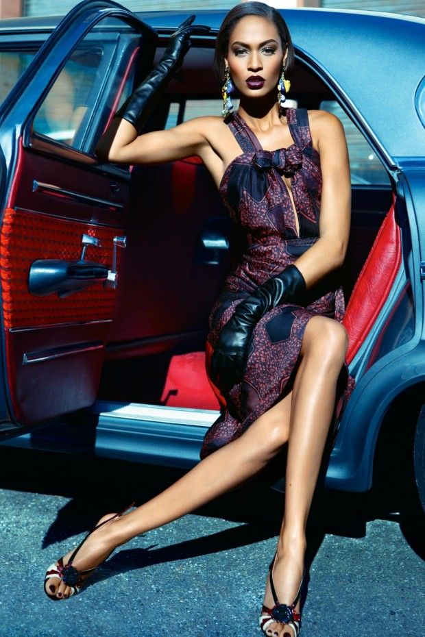 Joan Smalls wearing Burberry Prorsum. Vogue Australia May 2012