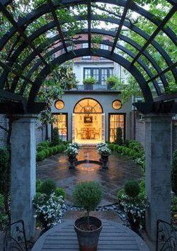 gorgeous courtyard Repinned by www.vessou.com #pots #planters #vasi #interiors #interiordesign #architecture #outdoordesign
