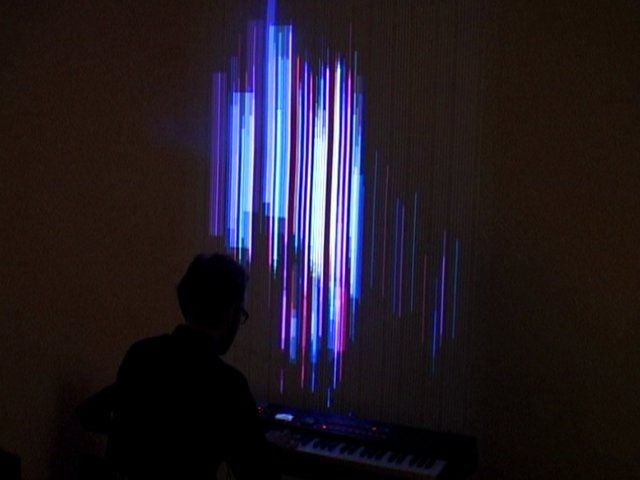 Clavilux 2000 - Interactive instrument for generative music visualization