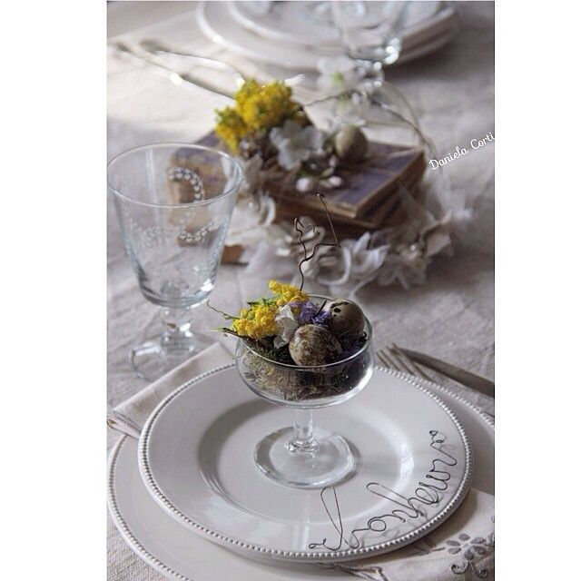 Easter tablescape by Fili di poesia
