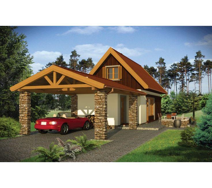 Proiect casa ID 2313 mansarda (P+M) mica, 77 mp. Pret de la 12705 € inlcusiv proiectare, manopera si materiale - Constructii Cas