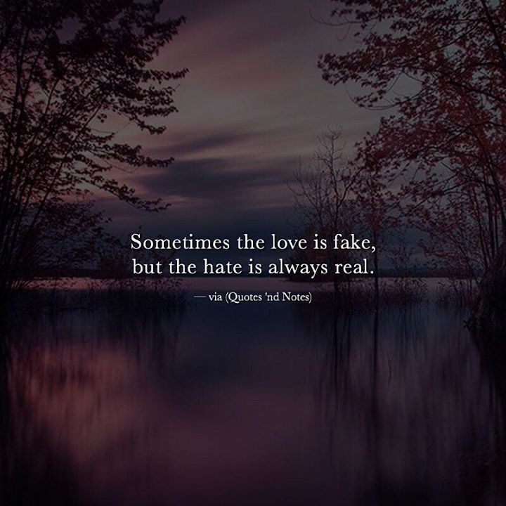 Sometimes the love is fake but the hate is always real. via (http://ift.tt/2hDF9T8)