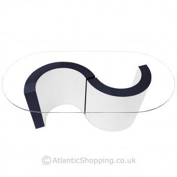 Captivating Apollo Coffee Table Blue U0026 White