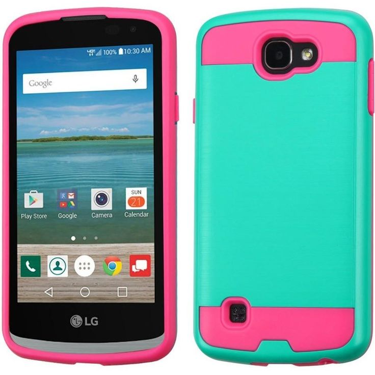 lg zone 3 phone cases. mybat brushed metal lg k4/spree/optimus zone 3 case - teal green/ lg phone cases