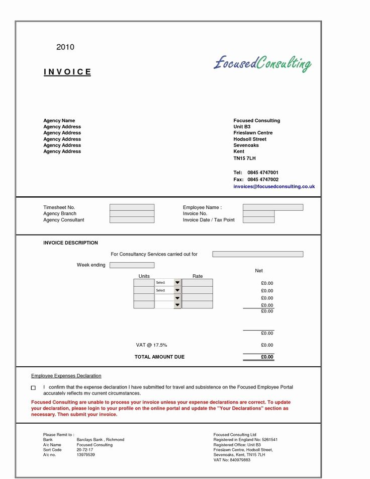 Consulting Invoice Template Word New Sample Consultant