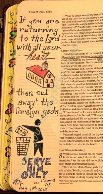 Easy Bible Art Journaling Journey: 1 Samuel 7:3 (May 11th)