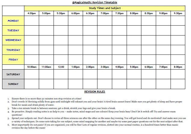 How to create a revision timetable and revise effectively?
