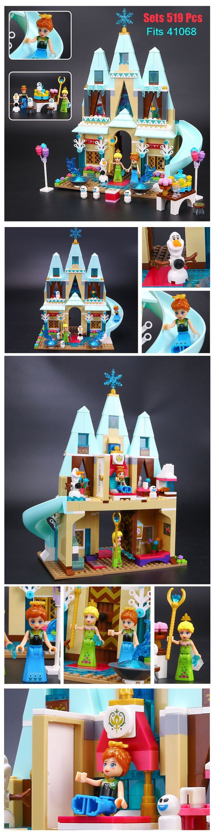 Blocks Hot Princess Frozen Arendelle Castle 519 Pcs Building Blocks Fits Lego