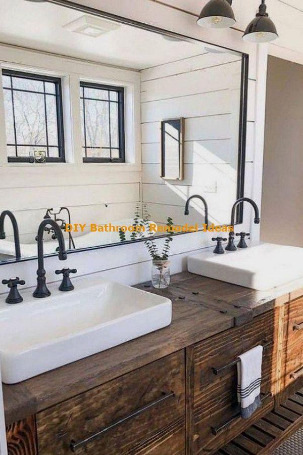 15 Incredible Diy Ideas For Bathroom Makeover Bathroom Remodel Master Farmhouse Master Bathroom Bathroom Farmhouse Style