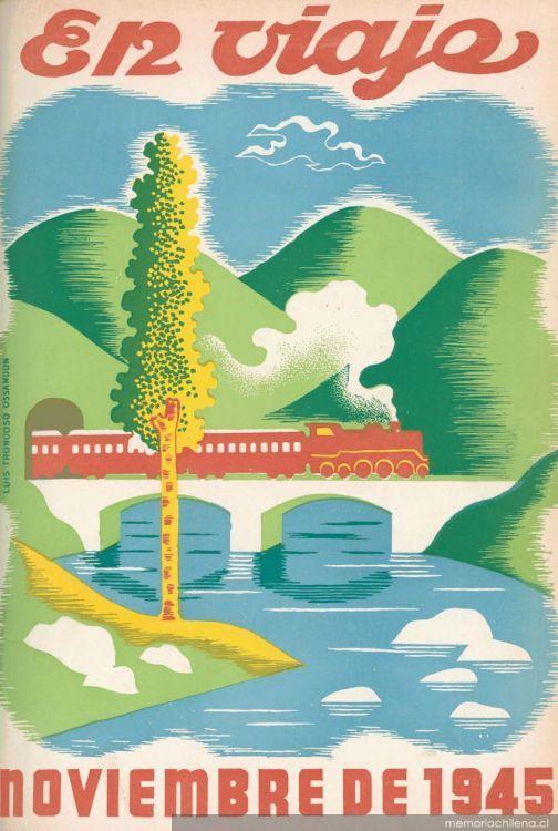 Portada de revista En viaje, de Luis Troncoso Ossandón (1945)