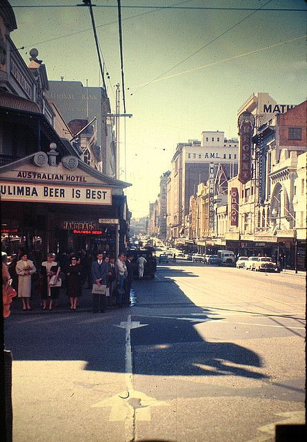 Australia  1959  corner Queen St. - Albert St.  Brisbane by pizzodisevo, via Flickr