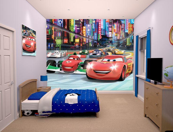 Papier peint Cars pour chambre enfant sur Jardindeco.com