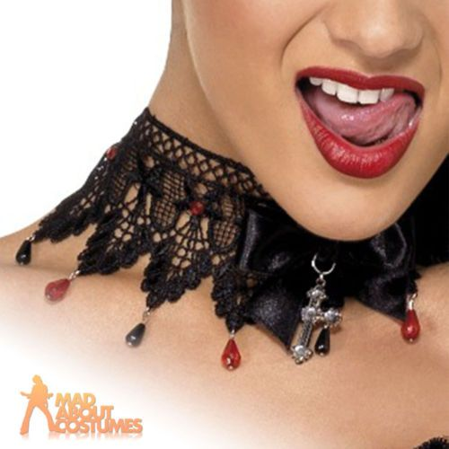 Gothic lace beaded necklace #fever #madame vamp halloween fancy #dress,  View more on the LINK: 	http://www.zeppy.io/product/gb/2/151803085817/