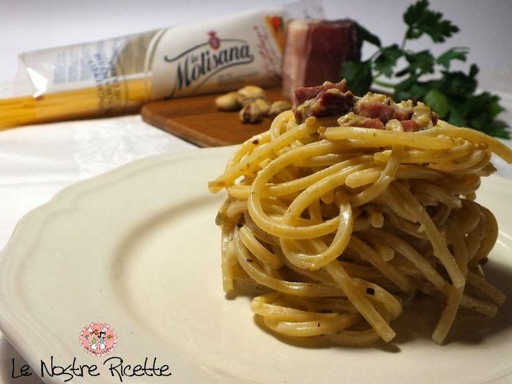 Le nostre Ricette: Spaghetti con pesto di Pistacchi e Speck