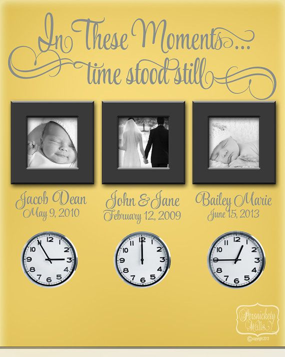 In These Moments...Time stood still vinyl by PersnicketyWallVinyl, $28.00
