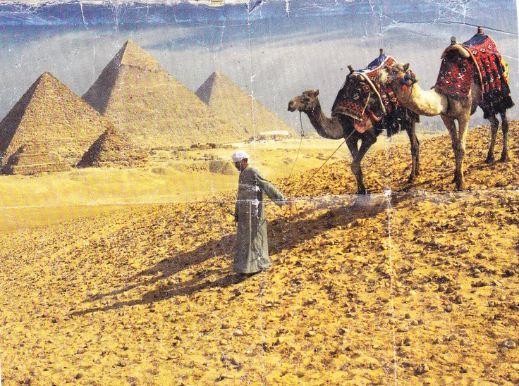Ride a camel and visit the pyramids in Egypt. (Have carried this National Geographic Traveler picture in my wallet for years...)