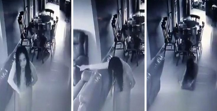 Creepy maid is 'possessed by evil spirit' in chilling zombie-like footage from inside family home