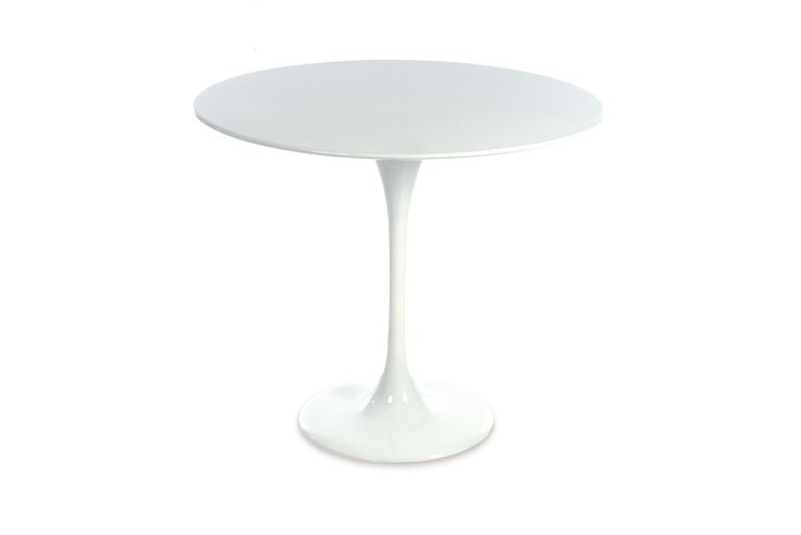 Tulip Table in white - available to hire from www.d-zinefurniture.co.uk