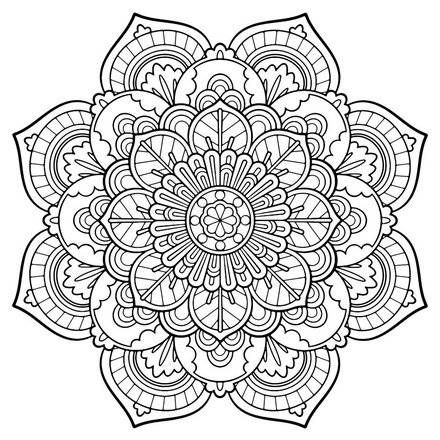 a beautiful flower mandala for any project you have in mind svg is in black and white so you can add the colors in design space to the color of vinyl you - Abstract Coloring Pages