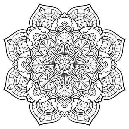 Mandala Vintage Coloring Page Nice Printable Adult Coloring Pages