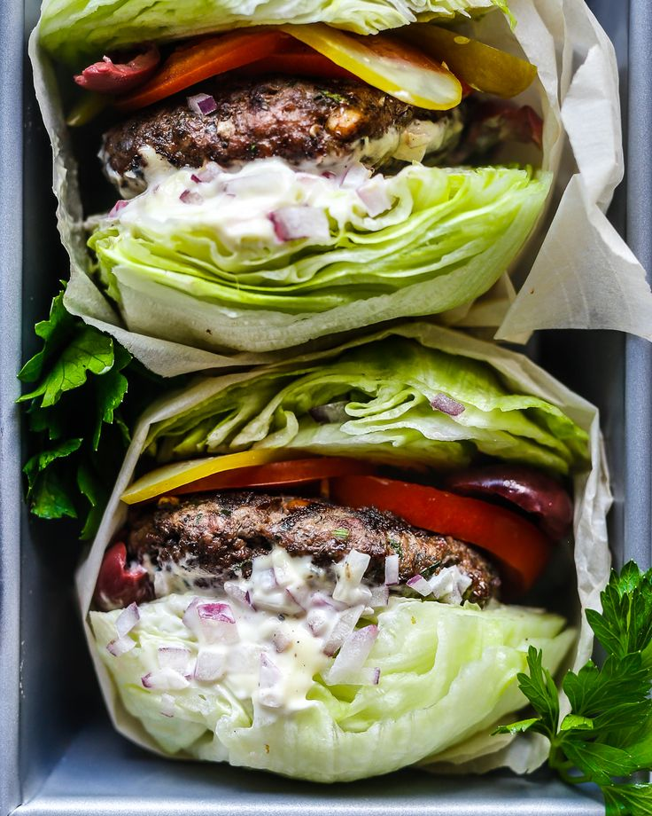 ***Greek Burgers are Whole30 and Paleo compliant. They're super juicy and loaded with mediterranean flavours but the secret is toasted pine nuts.