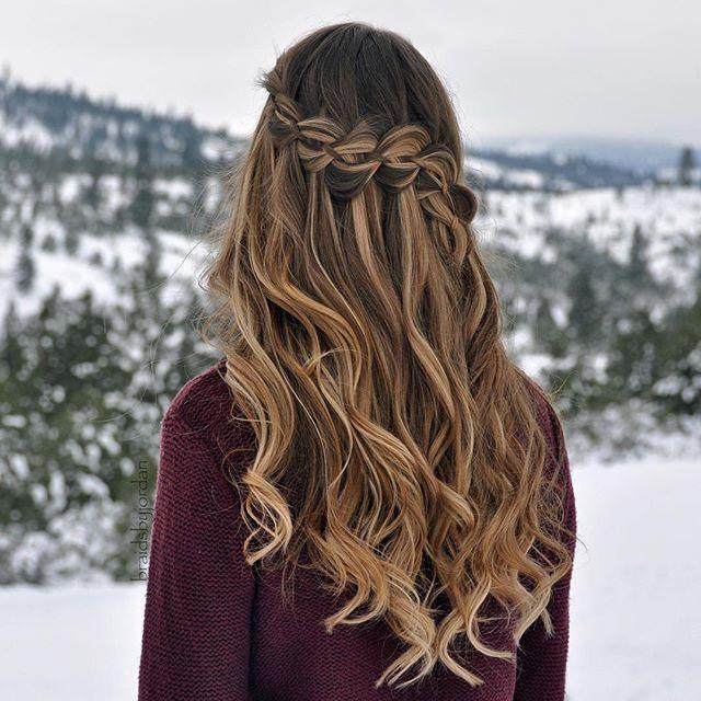 4-Strand Waterfall Braid & Curls on myself ❄️❄️ #luxyhair #dirtyblondeluxyhair