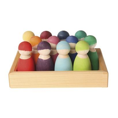 Wooden Rainbow Friends from Grimm Toys, set of 12