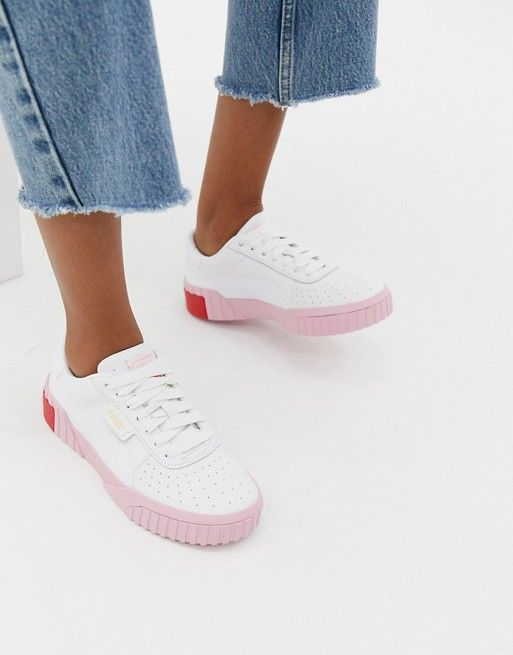 Puma Cali white and pink sneakers in 2019  504feb896