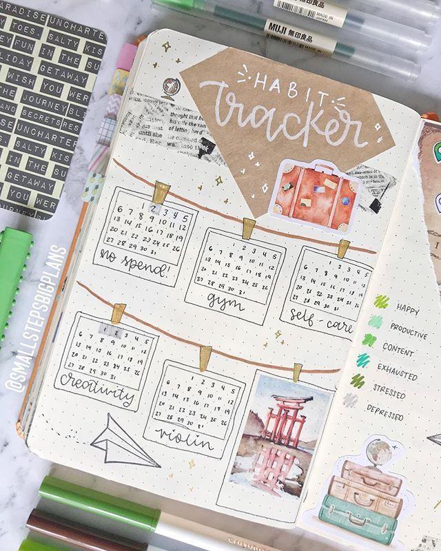 BRILLIANT Bullet Journal Goal Tracker Hacks {Make things happen in 2019